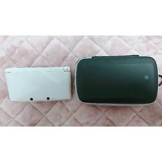 ニンテンドー3DS(ニンテンドー3DS)の3DS  本体+タッチペン+ケース 白(携帯用ゲーム本体)