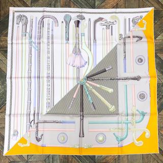 エルメス(Hermes)のエルメススカーフ 未使用保管品 ステッキ ピンク×オレンジ(バンダナ/スカーフ)