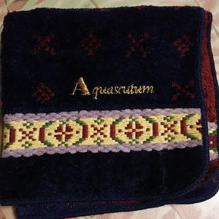 アクアスキュータム(AQUA SCUTUM)のアクアスキュータムプチタオル未使用新品(ハンカチ)