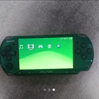 【早いもの勝ち】ジャンクPSP 本体 psp-3000 緑色(携帯用ゲーム本体)