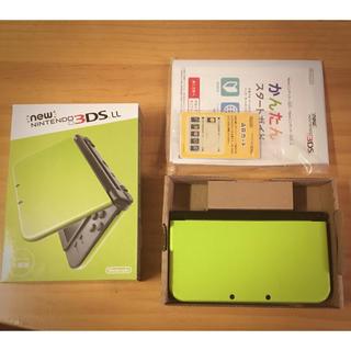 ニンテンドー3DS(ニンテンドー3DS)の【美品】New ニンテンドー 3DS LL ライム×ブラック 【中古】(携帯用ゲーム本体)