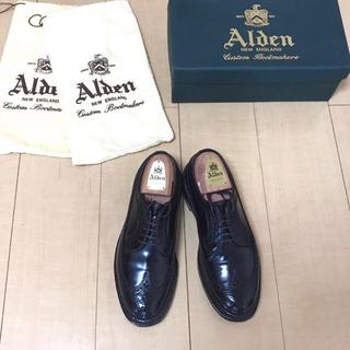 オールデン(Alden)の【使用数回】オールデン 975 コードバン ダークバーガンディ ウイングチップ(ドレス/ビジネス)