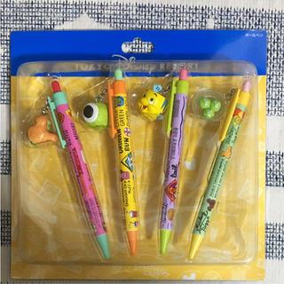 ディズニー(Disney)のTDRTDLTDS☆ディズニー☆パークフードチャーム付ボールペンセット☆新品(ペン/マーカー)