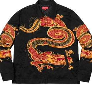 シュプリーム(Supreme)のsupreme  dragon work jacket ブラック(Gジャン/デニムジャケット)