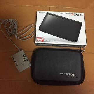 ニンテンドー3DS(ニンテンドー3DS)の任天堂NINTENDO3DS LL ゲーム機 本体 ブラック 中古(携帯用ゲーム本体)