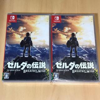 ニンテンドースイッチ(Nintendo Switch)の新品☆ 2点セット ゼルダの伝説 ブレス オブ ザ ワイルド(家庭用ゲームソフト)