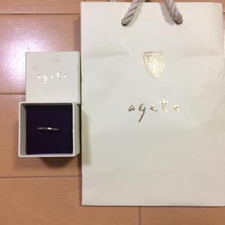 アガット(agete)のageteリング10号(リング(指輪))