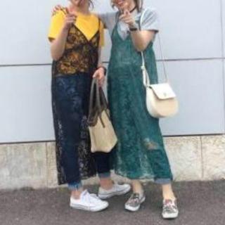ジーユー(GU)のGU レースキャミワンピース(ひざ丈ワンピース)