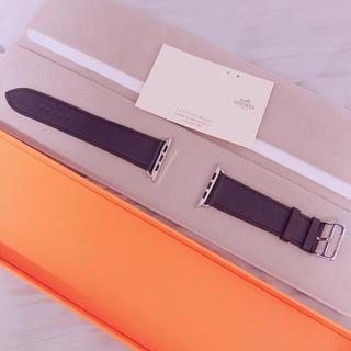 エルメス(Hermes)のApple Watch Hermès ヴォー・スウィフト ブルーインディゴ 44(腕時計(デジタル))