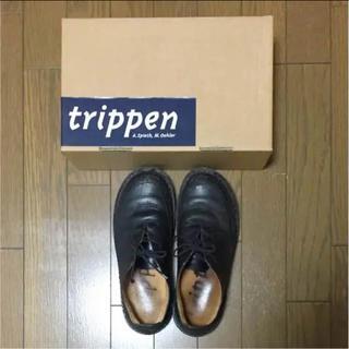 トリッペン(trippen)のSizukuさま専用 trippen レザーシューズ ブラック(ローファー/革靴)