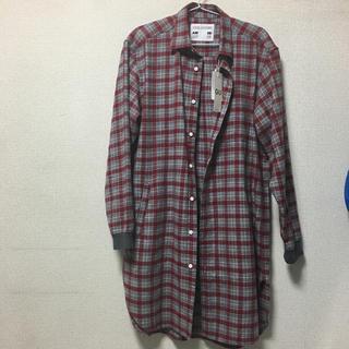 ジーユー(GU)のGU KIM JONES フランネルチェックロングシャツ M キムジョーンズ  (シャツ)