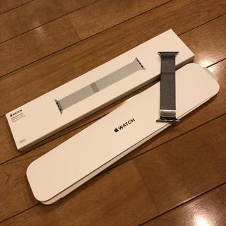 アップルウォッチ(Apple Watch)の【おひさまさん専用】アップルウォッチ 38mmケース用 ミラネーゼループ(金属ベルト)