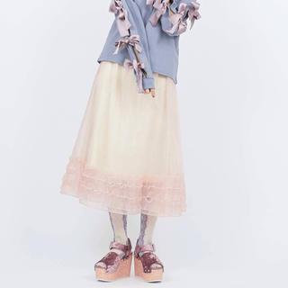 メリージェニー(merry jenny)のmerry jenny 2wayオーガンジーフリルスカート(ひざ丈スカート)
