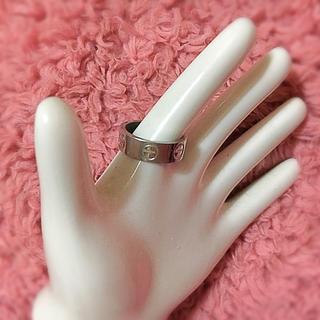 特価処分価格♥ マイナス ビス モチーフ シルバーリング 指輪 バロディ 韓国製(リング(指輪))