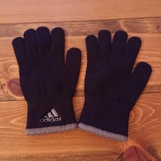アディダス(adidas)のadidas ニット 手袋 ブラック(手袋)