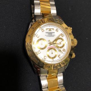 テクノス(TECHNOS)のTECHNOS テクノス TGM640 文字盤ホワイト メンズ腕時計 動作品(腕時計(アナログ))