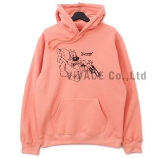 シュプリーム(Supreme)のSupreme Lee Hooded Sweatshirt 珊瑚色S(パーカー)