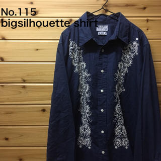 bigsilhouette navy art shirt(シャツ)