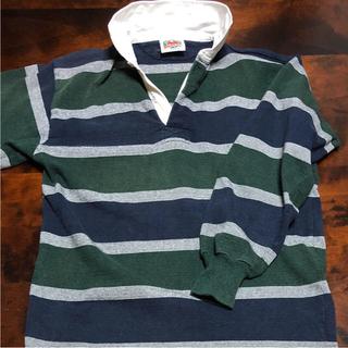 バーバリアン(Barbarian)のお洒落な ラガーシャツ ボーダー Mサイズ 購入価格7800 美品‼️(ポロシャツ)