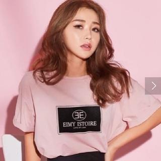 eimy istoire - エイミーイストワール フロッキープリントエイミーTシャツ 限定カラーピンク