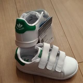 アディダス(adidas)のアディダス スタンスミス ベルクロ ホワイト/グリーン  20.0cm(スニーカー)