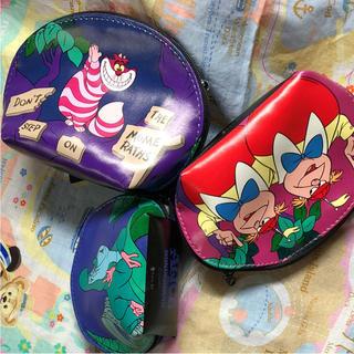 Disney - 新品 ふしぎの国のアリス ディズニー 3点ポーチ チシャ猫 イモムシ