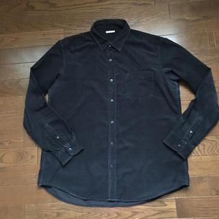 ジーユー(GU)のGU コーデュロイシャツ XL 黒(シャツ)