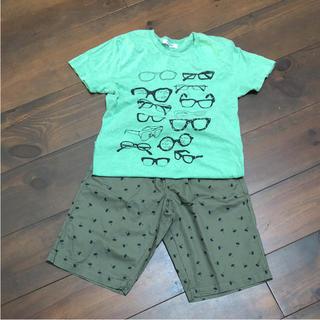 ジーユー(GU)のTシャツとパンツセット(Tシャツ/カットソー)