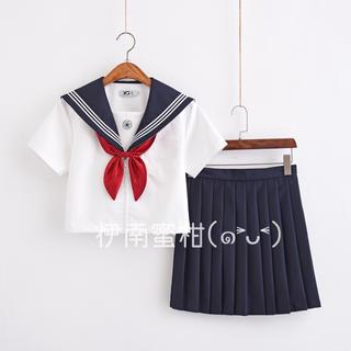 【J】コスプレ制服★セーラー服(上下セット)半袖(セット/コーデ)