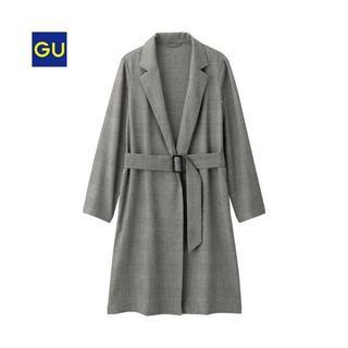 ジーユー(GU)のGU ライトガウンコート グレンチェック コート S(ガウンコート)