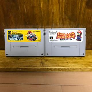 スーパーファミコン(スーパーファミコン)のSFCソフト スーパーマリオカート & スーパーマリオRPG セット(家庭用ゲームソフト)