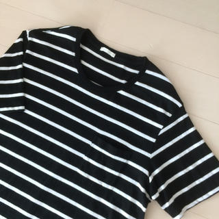 ジーユー(GU)のタイムsale★GU・ボーダーポケットTシャツ(Tシャツ/カットソー(半袖/袖なし))