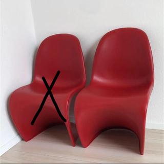 イケア(IKEA)のパントンチェア キッズ  レッド 2脚 リプロダクト(その他)