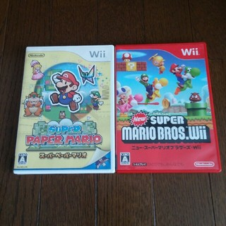 Wii - スーパーペーパーマリオ、ニュースーパーマリオブラザーズ Wii