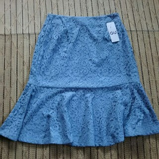 ジーユー(GU)のGU レーススカート M(ひざ丈スカート)