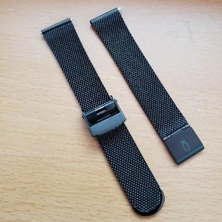 ノット(KNOT)のknot ノット 腕時計 ストラップ メッシュ ブラック(金属ベルト)