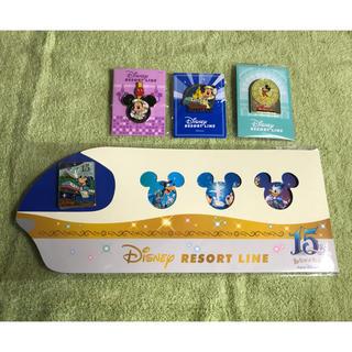 ディズニー(Disney)のディズニーリゾートライン ミッキー  ピンバッチ 4個セット★非売品★新品(バッジ/ピンバッジ)