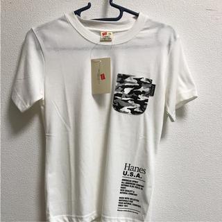 Hanes - ヘインズ Hanes Tシャツ 白 胸ポケット 150サイズ