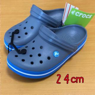 crocs - 新品  24㎝ クロックス クロックバンド チャコール