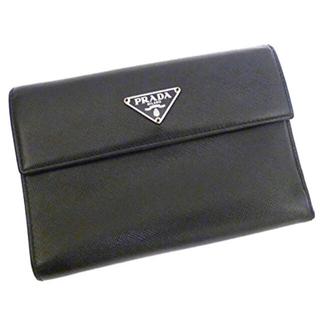 e300d4c2ce53 プラダ(PRADA)のPRADA プラダ 三つ折り財布 サイフ サフィアーノ レザー ネロ ブラック(