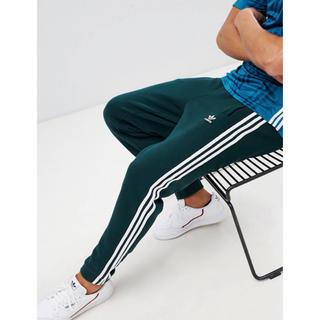 adidas - 【Sサイズ】新品タグ付 adidas  3ストライプ スウェットパンツ グリーン