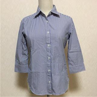 ジーユー(GU)の着やせ効果抜群!!GU七分袖ストライプシャツ(シャツ/ブラウス(長袖/七分))