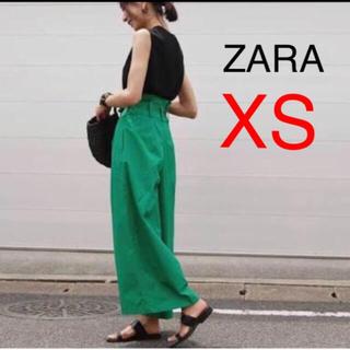 ZARA - 新品!ZARA ベルト付きワイドパンツ   XS
