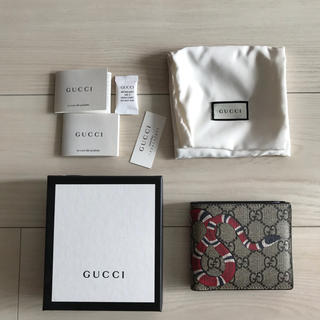 competitive price c41fa a885d 美品 Gucci 財布 スネーク ヘビ柄 蛇柄 ウォレット モノグラム
