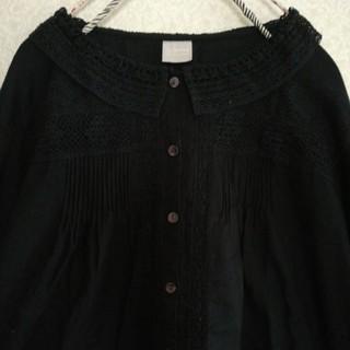 SM2 - TSUHARU リバーレース襟のブラウス黒