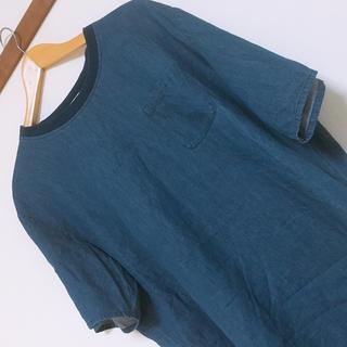 ジーユー(GU)のGU 薄デニム Tシャツ Lサイズ(Tシャツ/カットソー(半袖/袖なし))