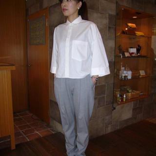 ENFOLD - 【タイムセール】ENFOLD 白 ワイドスリーブ シャツ 38サイズ