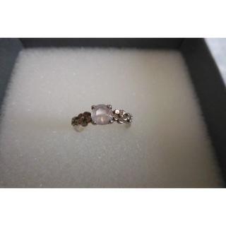 シルバー【925】刻印ローズクオーツお花のピンキーリング 2.5号サイズ(リング(指輪))