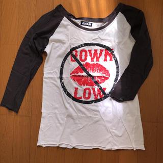 アナップ(ANAP)のTシャツ 長袖 七分袖 アナップ ANAP バイカラー 白 ホワイト (シャツ/ブラウス(長袖/七分))