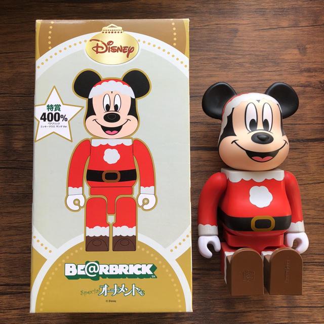 MEDICOM TOY(メディコムトイ)のベアブリックミッキーマウスサンタver.400% エンタメ/ホビーのおもちゃ/ぬいぐるみ(キャラクターグッズ)の商品写真